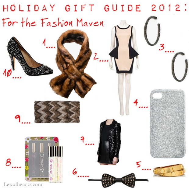 Holiday Gift Guide 2012: For the Fashion Maven